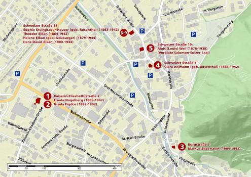 Stolpersteine Stadtplan