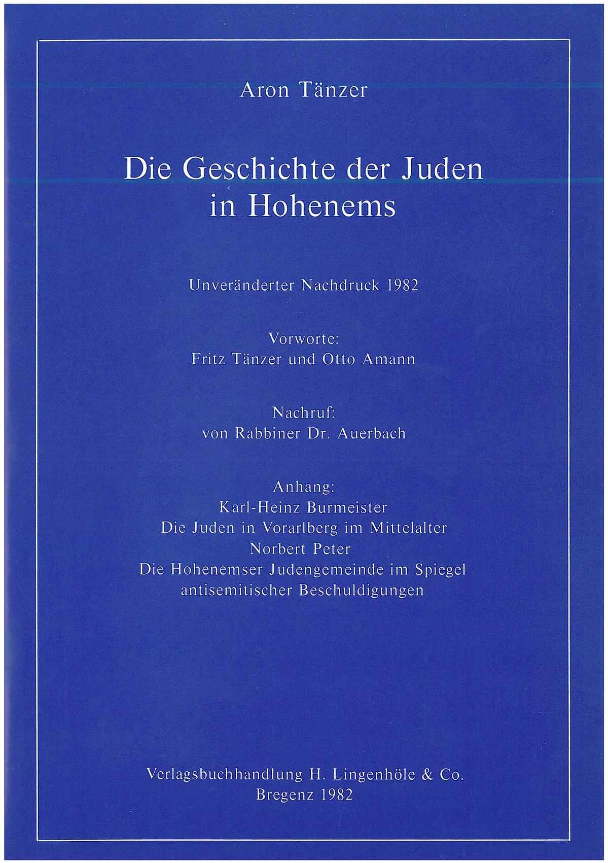 Die Geschichte der Juden in Hohenems