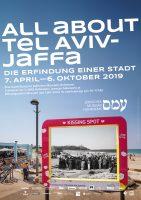 Plakat zur Ausstellung All about Tel Aviv-Jaffa