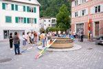 Der Platz beim Brunnen